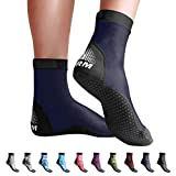 BPS 'Second Skin' Sock - Ultra Stretch Second Skin Lightweight Fin Sock for Snorkeling, Kayaking, Surfing, Beach Soccer Durable and Sand Proof Water and Sand Sock - High Cut (Navy Blue, XXXXL)