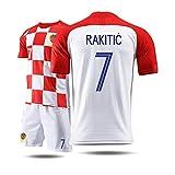 RENJUN Camiseta de Manga Corta para Hombre, Traje Deportivo, Traje de Entrenamiento de fútbol, Camiseta de la Copa Mundial de Croacia, Croacia Camiseta de Baloncesto (Color : C, Size : L)