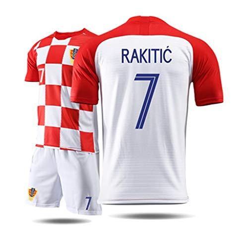 RENJUN Camiseta de Manga Corta para Hombre, Traje Deportivo, Traje de Entrenamiento de fútbol, Camiseta de la Copa Mundial de Croacia, Croacia Camiseta de Baloncesto (Color : C, Size : S)