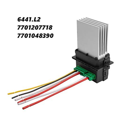 HZTWFC Resistencia del Soplador del Calentador OEM # 6441L2, 7701048390, 7701207718 resistencia del calentador + mazo de cables de 2 conectores para referencia