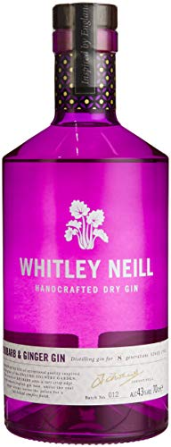 Whitley Neill Handcrafted Rhubarb & Ginger Gin 70cl