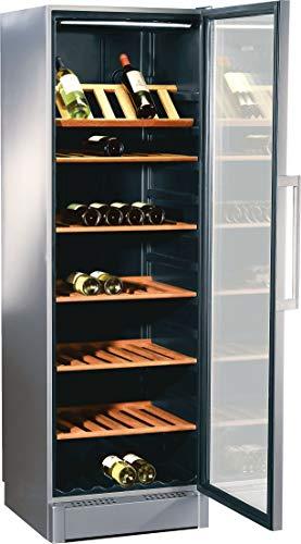 Bosch KSW38940 Serie 8 XXL-Weinkühlschrank / B / 186 cm / 213 kWh/Jahr / Aluminium / getönte, verspiegelte Glastür / 368 L / 2 regelbare Temperaturzonen / verstellbare Flaschenborde aus Holz