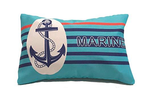 COVERBAG BCN Cuscino gonfiabile con doppia fodera per spiaggia/viaggio/casa MARINE