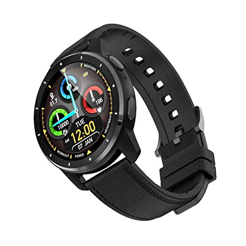 JXFF MX11 2021 Reloj Inteligente Ratio Cardíaco Monitor De Presión Arterial Reloj Inteligente con Auricular Bluetooth Call Music Music Men's Y Women's Watch para Android iOS,D