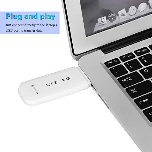 Wendry LTE Surfstick USB Surfstick,USB Surfstick WiFi 4G/3G 100MBit/s,Plug and Play,Freigabefunktion,4G LTE USB-Netzwerkadapter Drahtloser WLAN-Hotspot-Router Modem Stick(Weiß Mit WLAN-Funktion)