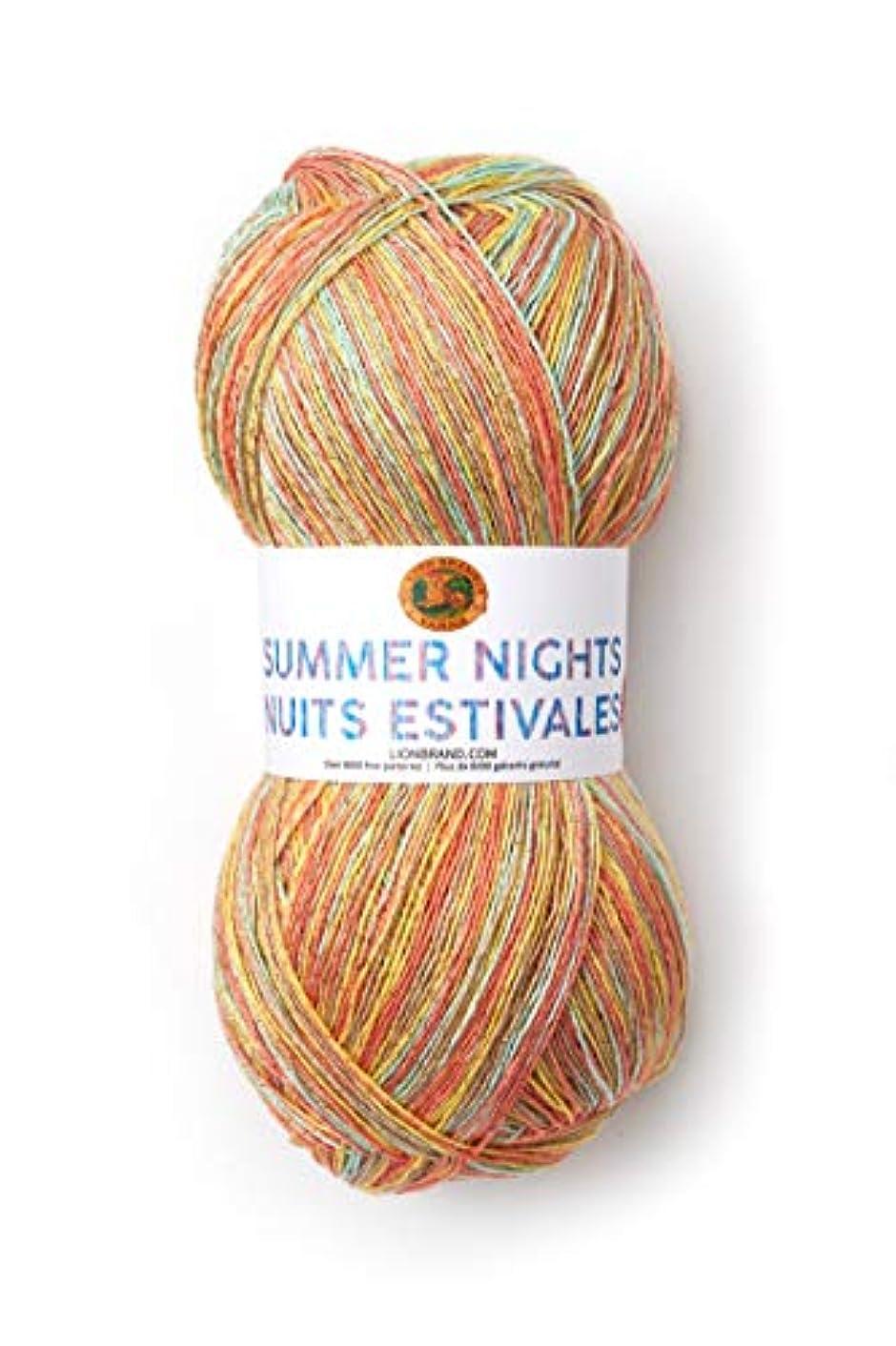 Lion Brand Yarn 512-312 Summer Nights Bonus Bundle Yarn, Sunset (1 skein/ball)