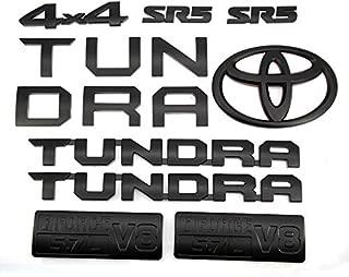 Cardiytools 14PCS Emblems, Matte Black Out Tailgate Emblem Sticker Decal Badge Nameplate for 2014-2019 Tundra