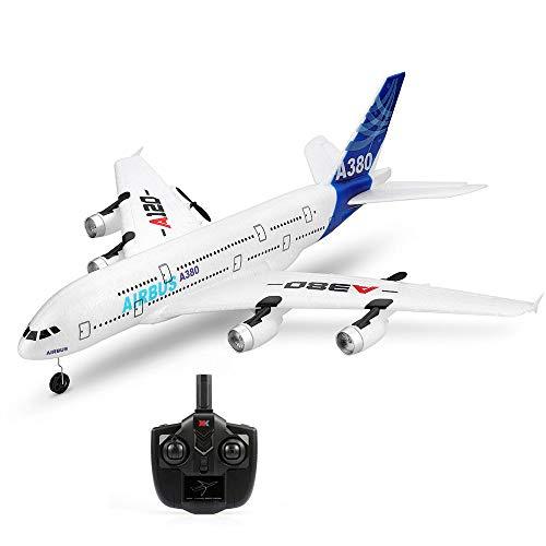 Mobiliarbus RC Flugzeug XK A120 Airbus A380 Modellflugzeug 3CH EPP 2.4G Flugzeug mit LED Light Aircraft RTF für Kinder