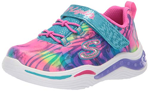 Skechers Kids Girls' Power Petals-FLOWERSPARK Sneaker, Multi, 3 Medium US Little Kid