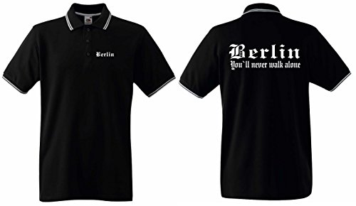 World of Shirt Herren Polo-Retro Shirt Berlin Ultras