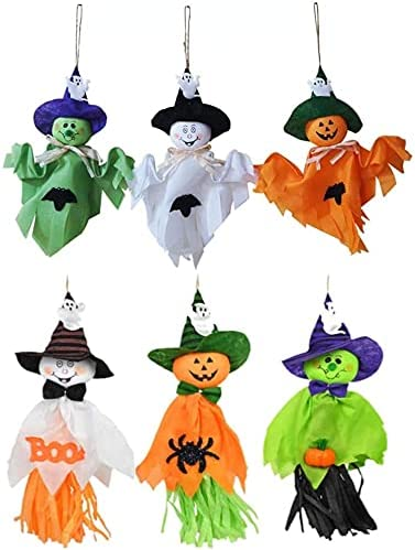 6Pcs Halloween Hanging Ghost Straw Cute Decoration Opening large release sale Courier shipping free shipping Pumpkin