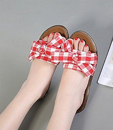 SCLOTHS été Tongs Femme Chaussures Mer ' ' ' Bow-tie d'usure extérieure Vacances 286
