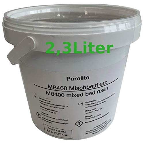 Purolite 2,3L Mischbettharz MB 400 Vollentsalzer Ionenaustauscherharz, Neuware