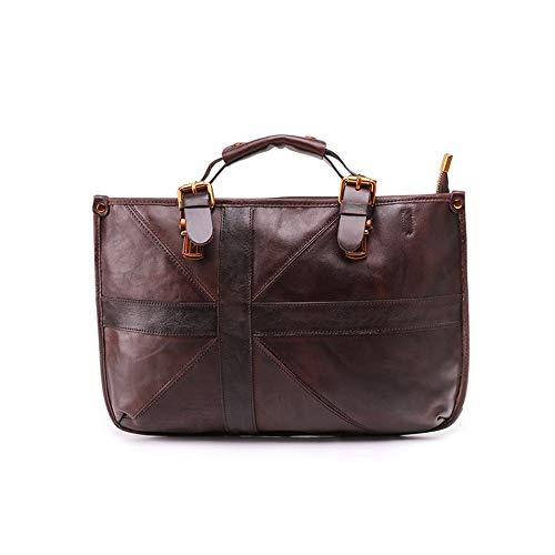 Ladies handbag Leather Crossbody Bags For Women Ladies Shoulder Bags Casual Women Handbags Leather Tote Satchel Bag women's shoulder bag (Color : Coffee, Size : 38x8x24cm)