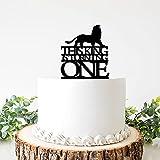 Este King is Turning - Decoración para tartas de boda de acrílico, una silueta de león Mr & Mrs, decoración de tartas para bodas, despedidas de soltera, aniversario, cumpleaños; 6 pulgadas