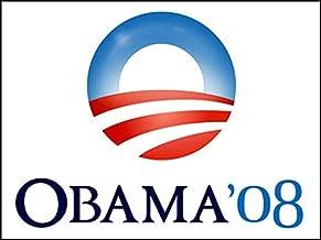 American Vinyl Vintage Obama O Logo 08 Sticker (Election Political Logo 2008 Barack)