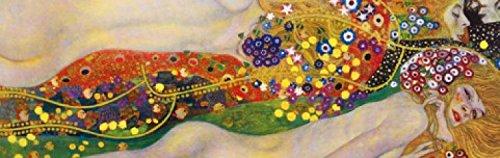 1art1 73677 Gustav Klimt - Wasserschlangen II, 1904-1907, 1-Teilig Fototapete Poster-Tapete 250 x 79...