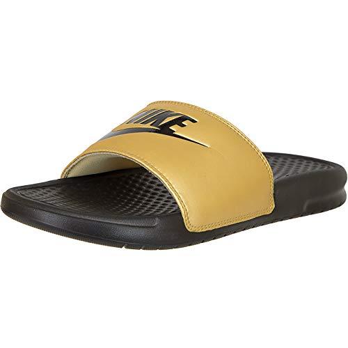 Nike Benassi JDI - Ciabatte da donna, Nero (Colore: nero e oro.), 38 EU