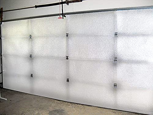 NASA TECH White Reflective Foam Core 2 Car Garage Door Insulation Kit 18FT (Wide) x 8FT (HIGH) (5 Rows 20 Panel) R8 Made in USA New and Improved Heavy Duty Double Sided Tape (Also FITS 18X7)