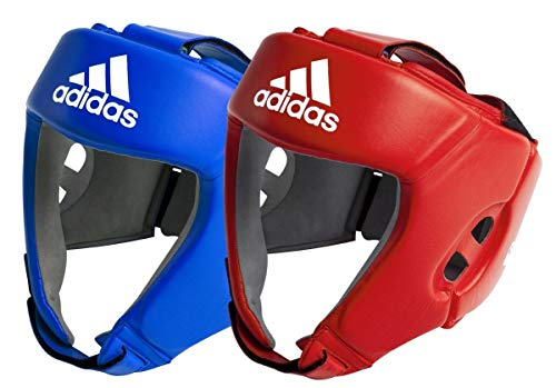 adidas AIBA Boxing Heard Guards Kopfschoner, Blau, M