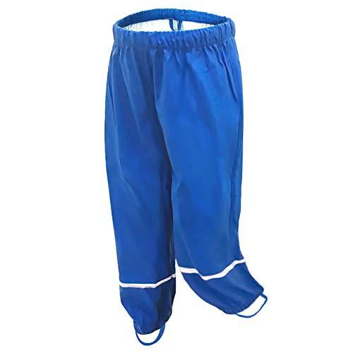 AMIYAN Pantalones de lluvia para niños, impermeables, transpirables, para niñas y niños azul 86 92 cm