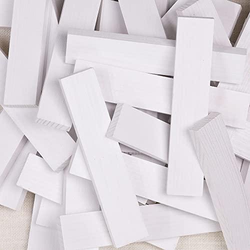 Kapla 8034 Holzplättchen 40-Teilig in Box Weiß - 6