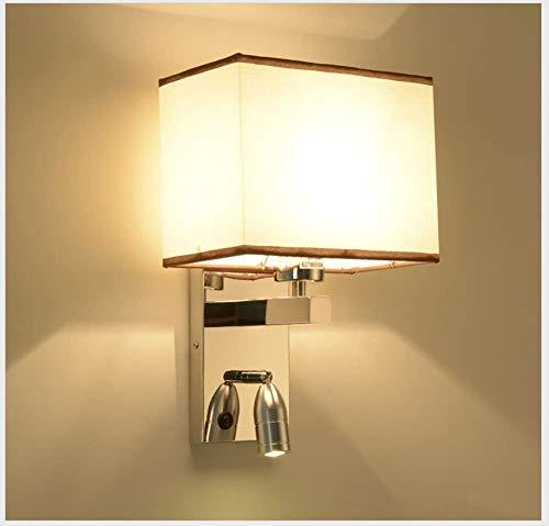 Lámpara De Pared Simple Y Fresca LED apliques de la pared simplicidad, moderna minimalista lámpara de pared de acero inoxidable, de noche de lectura del dormitorio Cuarto de Hotel Lámpara de pasillo I