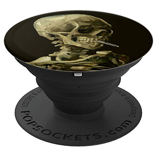 Vincent van Gogh Art Still Life Skull with Burning Cigarette PopSockets Grip and Stand for Phones and Tablets