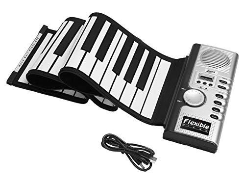 Icegrey Qualität Tragbare 61 Tasten Flexibel Klavier USB MIDI Elektronische Tastatur Schwarz und weiß Einheitsgröße