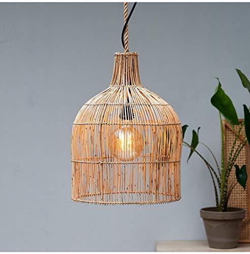 Riviera Maison - Maldives Bottle - Hanging Lamp/Pendelleuchte - Slimit-Rattan - Natur - (DxH) 38 x 50cm