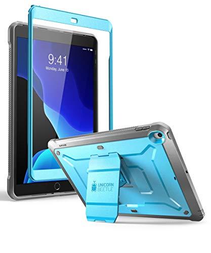 SupCase Hülle für iPad 7th Generation 10.2 Zoll 2019 Bumper Case 360 Grad Schutzhülle Robust Cover [Unicorn Beetle Pro] mit integriertem Displayschutz und Gürtelclip für iPad 10.2 (Blau)