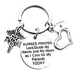 Nurse Gifts for Women Nursing Graduation Gifts Nurse Keychain Prayer Inspirational Key Ring Valentines Birthday Christmas Gift for Nurses Practitioner Nurse RN Charm Gift Medical Student Gift(RN)
