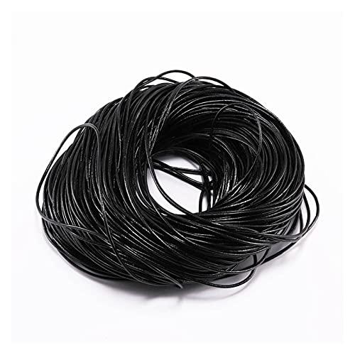 Linyuex 2-5m / Lote 1.5 2 2.5 3 4 5 6 mm 3 Color Color Genuino de Color Cordón Redondo Cordón DIY Pulsera Hallazgos Hallazgos Cuerda de Cuerda para la fabricación de Joyas