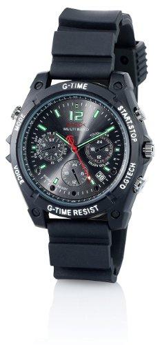 OctaCam Spy Kamera Uhr: Kamera-Uhr VA-1080 mit HD-Video, Infrarot-Nachtsicht, 8 GB (Uhr mit Kamera und Mikrofon)