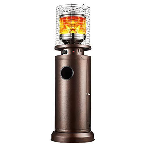 CRZJ Estufa de Terraza, Calentador de Patio, Calentador de Gas al Aire Libre móvil de humidificación Interior de Las Casas Gas propano con botón de Encendido,