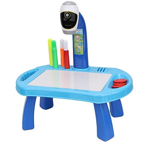 Tablero de Pintura Proyector Escritorio Mesa Juguete de Aprendizaje, Proyector de Pintura Dibujo Juguete Educación para niños