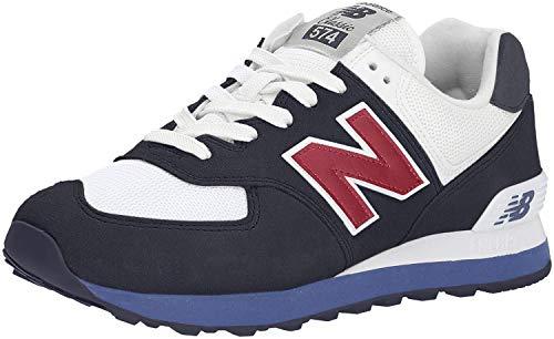 New Balance Ml574V2, Sneaker Uomo, (Blue/White/Red), 45.5 EU
