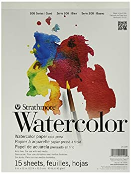 Strathmore  25-109 STR-025-109 15 Sheet Cold Press Watercolor Pad 9 by 12  9 x12