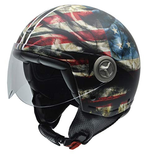 NZI Motorradhelm M US-Flagge