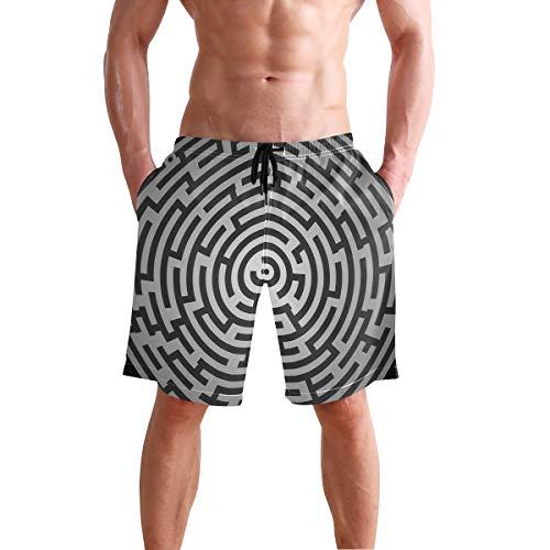 Maze Puzzle Riddle Quiz Labyrinth - Bañador Hombre