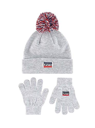 Levi Set Mütze und Handschuhe 8A8355-G2H-LIGHT Grey Heather - Child, Unisex Unisex