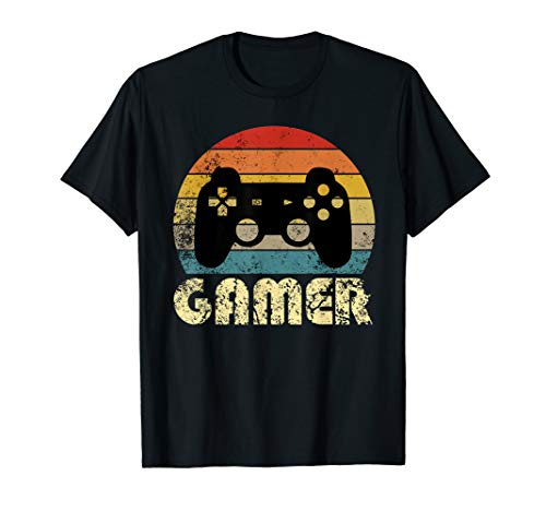 Vintage Retro Gamer Controller T-shirt for Adults, Youth