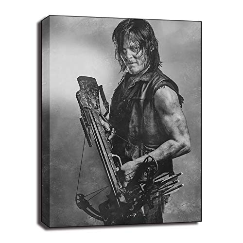 The Walking Dead Daryl Dixon TV Series Posters Painting On Canvas Bedroom Black White Wall Art Decoration Pictures Home (No Frame