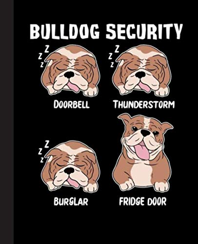 Bulldog Security Composition Notebook: Bulldog, Bulldogs, Dog, Dogs Notebook  Wide-Ruled 120 Pages, 7.5x9.25 Inches  Perfect gift for Bulldogs Lovers, Students, Teachers