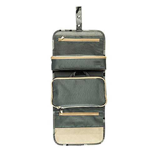 Portable Voyage Pliage Maquillage Sacs De Toilette avec Crochet Organisateur Sacs Cosmétique Hickening Sac De Rangement Cosmétique Sac (Color : B)