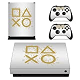 Adventure Games - XBOX ONE X - Days of Play, White, Limited Edition - Vinyl Console Skin Decal Sticker + 2 Controller Skins Set