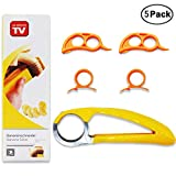IHUIXINHE Banana Slicer, Orange Citrus Peeler, Finger Ring Opener, 5 Pack Slicer Peeler Set Kitchen Tools, Cucumber Kiwi Sausages Salad Vegetable, Handheld Fruit Tools, Kitchen Gadget