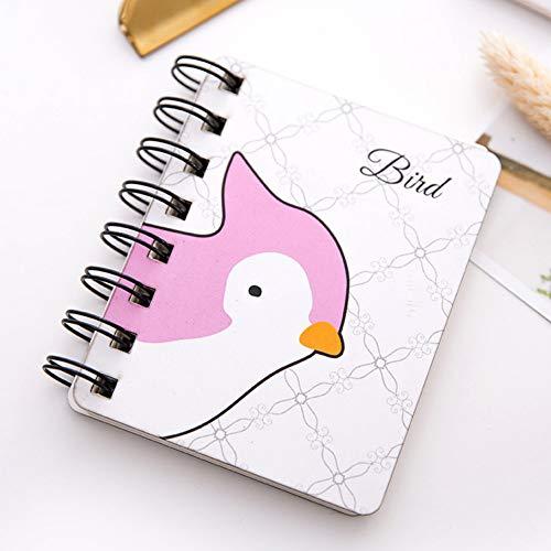 YUNYOTE Diercartoon tas notitieboek rolluik spoel draagbare mini molkerei notebook mooie schrijfwaren notitieblok planner studenten cadeau