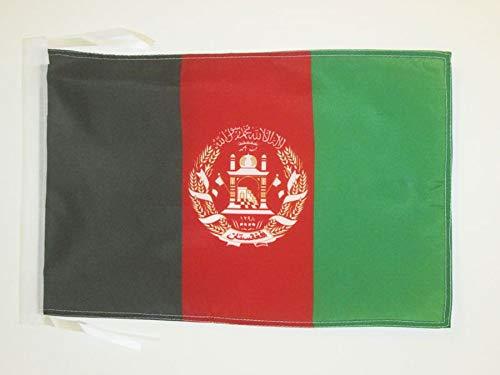 AZ FLAG Flagge Afghanistan 45x30cm mit Kordel - AFGHANISCHE Fahne 30 x 45 cm - flaggen Top Qualität