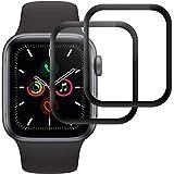 RIIMUHIR Cristal Templado para Apple Watch Series 5/Series 4 40mm,[2 Unidades] [3D Cobertura...